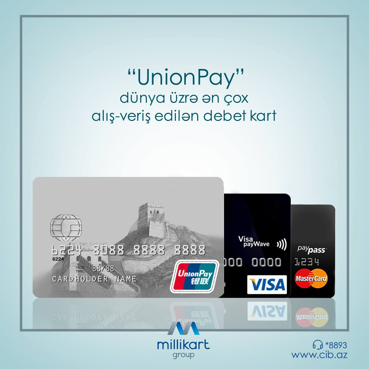 MILLIKART GROUP FOR THE FIRST TIME IN AZERBAIJAN BEGINS ACCEPTING PAYMENT CARDS OF UNIONPAY INTERNATIONAL